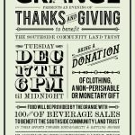 The Grange Presents An Evening of Thanks and Giving to benefit Southside Community Land Trust