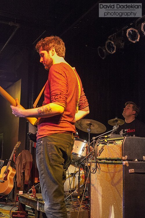 Persimmon's Kyle Kerstetter on bass with Champe Speidel on drums
