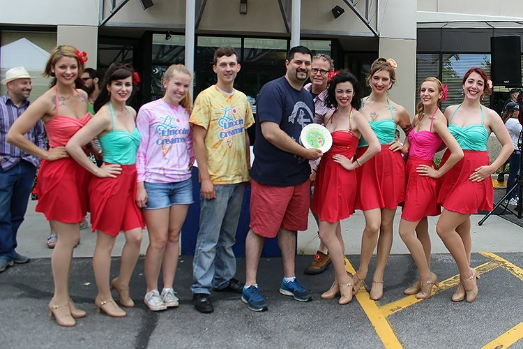 The winners of the 4th Annual Incredible Ice Cream Throwdown, Lincoln Creamery, with The TropiGals, photo by Ray McGinnis
