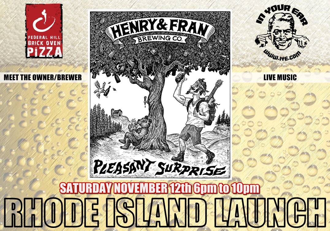 "Federal Hill Pizza Welcomes Henry and Fran Brewing Company to Introduce Their First Craft Beer, ""Pleasant Surprise"""