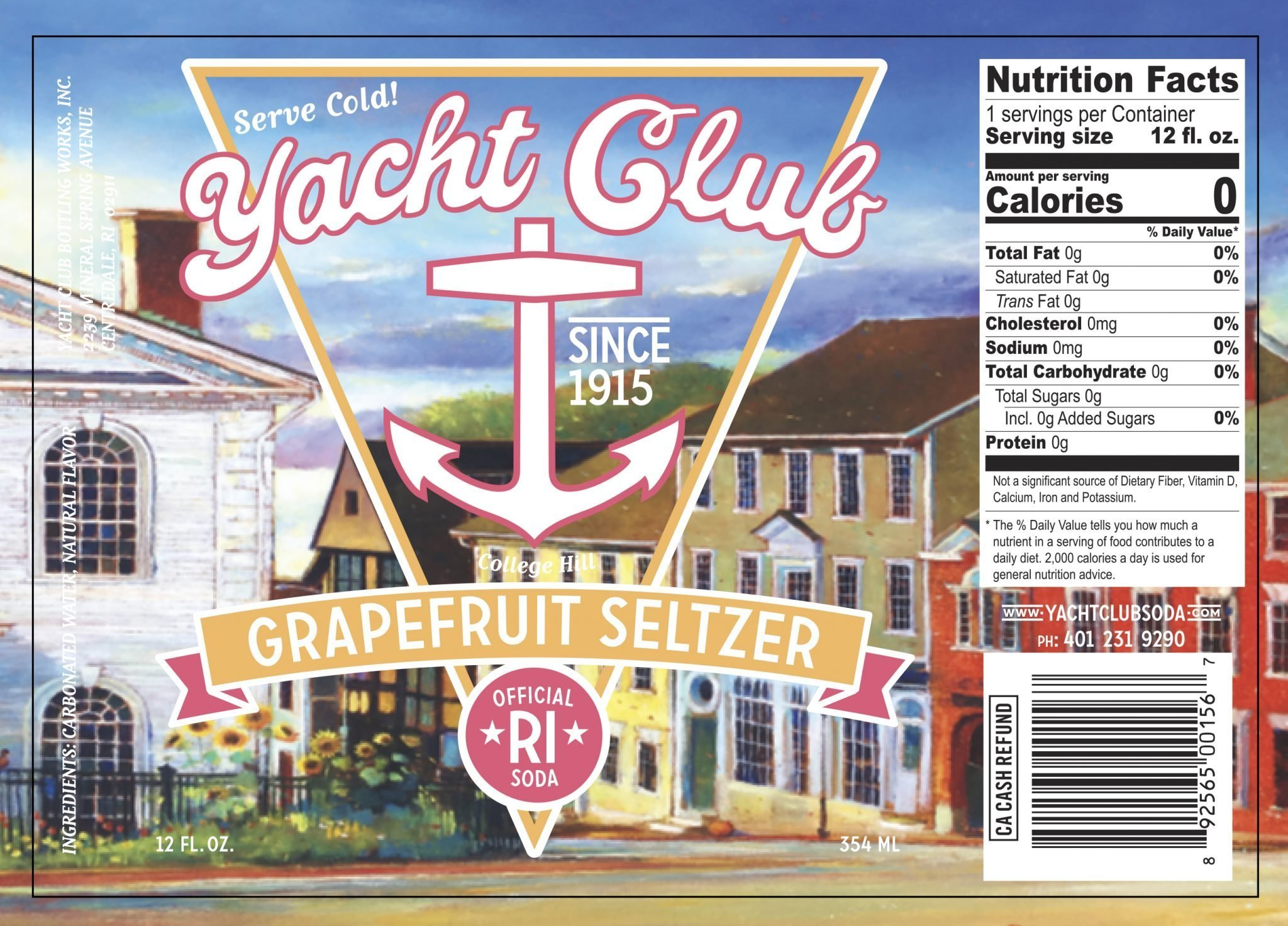 Yacht Club Grapefruit Seltzer label