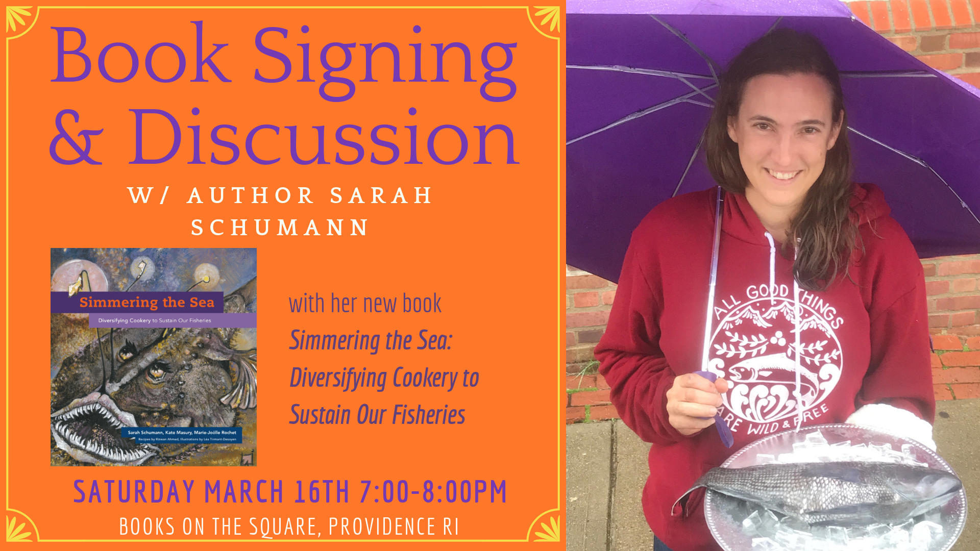 Book Signing and Discussion with Author Sarah Schumann