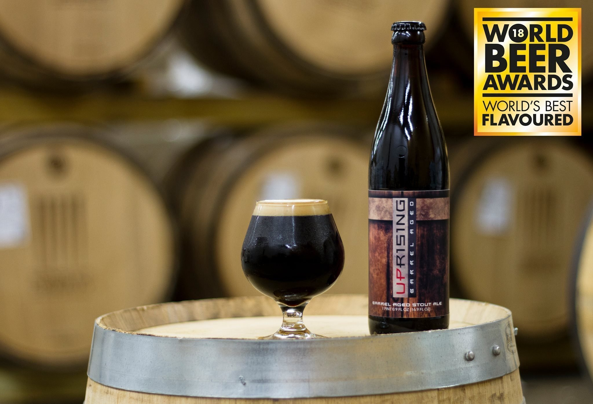 Sons of Liberty's Barrel Aged Uprising Stout Ale
